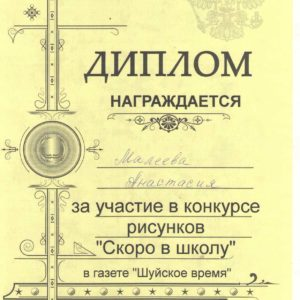 диплом Малеева